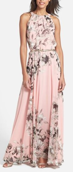love this floral print chiffon gown http://rstyle.me/n/wbev5r9te