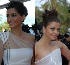 Sonam Kapoor and Aishwarya Rai Cannes 2012