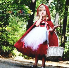 Adorable Little Red Riding Hood Costume! Tutu Halloween costume ideas for girls