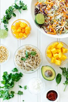 Mango & Coconut Soba Noodle Salad