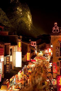 Yangshou Old Town Night, Guilin, China.  http://www.ticketalltime.com/
