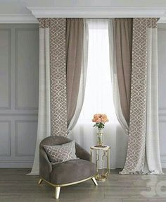 📌 Curtains for Windows or Living Room or Bathroom or Bedroom for Your House and Apartment Ideas « ANIPO Living Room Decor Curtains, Home Curtains, Bedroom Decor, Curtain Ideas For Living Room, Modern Curtains, Window Curtains, Curtain Styles, Curtain Designs, Rideaux Design