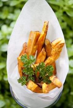 Apple Cider Vinegar Sweet Potato Fries (Skinny Ms. Superfoods)