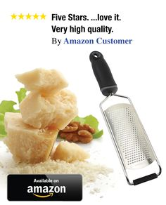 Skylar's cheese grater & Lemon zester.  I have one and love it. Very high quality.  Click image to order yours!