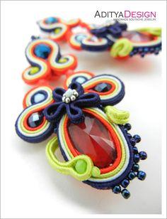 #Soutache #Earrings, Neon Earrings, Rainbow Earrings, Multicolor Earrings, Statement Earrings, Mexican Earrings, Colorful Earrings