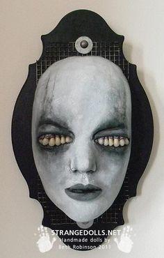 Beth Robinson's Strange Dolls, creepy handmade goth dolls