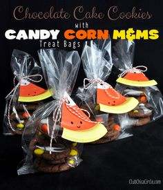 Candy Corn Cookie Gift Bags and Craft Idea Tutorial