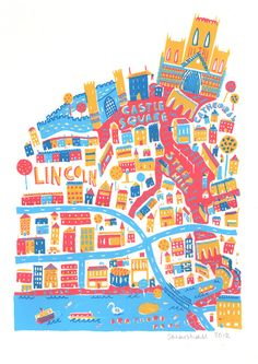 Lincoln Screenprint by Steph Marshall, via Behance