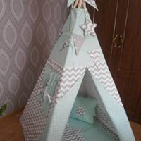 Teepee Set Kids Play Tent Tipi Kid Graj