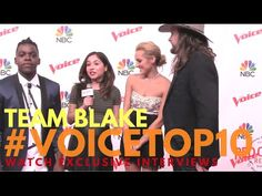"""Team Blake interviewed at """"The Voice"""" Season 10 Top 10 #VoiceTop10 #TeamBlake #TheVoice"""