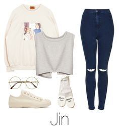 """""""Lazy day with Jin"""" by infires-jhope on Polyvore featuring Topshop, Studio Nicholson, Retrò and Hollister Co."""
