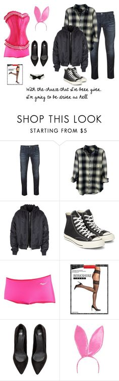 """""""Chip On My Shoulder"""" by clairemjc ❤ liked on Polyvore featuring Armani Jeans, Rails, Juun.j, Converse, Saucony, Berkshire, musicals, legallyblonde, ellewoods and musical"""