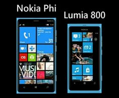 Nokia Phi (render) compared with Lumia 800