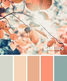 Gorgeous Palette Of Coral, Salmon, Satin Pink, Ivory, & Antique Teal Tones. Gorgeous Palette Of Cora Colour Pallette, Color Combos, Fall Color Palette, Fall Color Schemes, Color Schemes Colour Palettes, Interior Colour Schemes, Decorating Color Schemes, Color Schemes For Bedrooms, Decorating Ideas