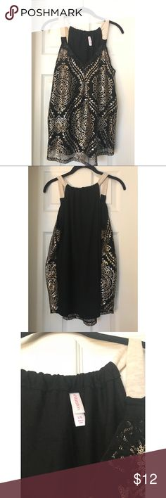 NWOT Gold & Black Sequin Top I bought this top, took the tags off, and never wore it. It's super cute, I just don't want it sitting in my closet when somebody else could be enjoying it! Xhilaration Tops Tank Tops