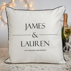 Personalised Couples Names Piped Edge Personalised Cushion 20th Wedding Anniversary Gifts, Personalized Anniversary Gifts, Anniversary Gift For Her, Personalised Cushions, Couple Gifts, Names, China, Couples, Products