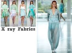 #X-ray #Fabrics #Def [Sheer fabrics with a translucent effect] #FyodorGolan #SS2014