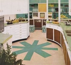 1954 wrap-around kitchen. I have a chafing dish very much like the one in the photo.