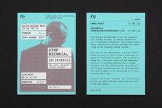 Flyer by Raw Color for Dutch art, technology and experimental pop culture festival STRP 2015.