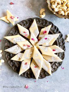 Indian Desserts, Indian Sweets, Easy Birthday Desserts, Kaju Katli, Goan Recipes, Tasty, Yummy Food, Food Decoration, 4 Ingredients