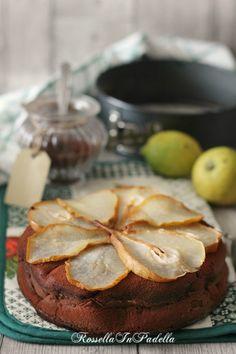 Torta pere e cacao, ricetta senza burro nè olio