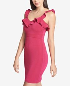 f3b9516e GUESS Ruffled Bodycon Dres... #shopstyle #shopthelook #summerstyle #clothing  #ootd #fashion #outfits #dresses