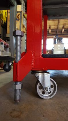 Leveling feet on welding table by Phil Layne jr.