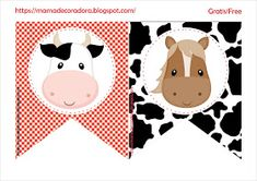Mamá Decoradora: Kit Imprimible La Granja Gratis Farm Animal Party, Farm Animal Birthday, Barnyard Party, Farm Birthday, Birthday Party Invitations Free, Farm Kids, Happy Birthday Girls, Farm Theme, Stickers