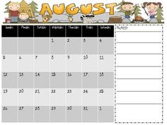 This is a great freebie that can be used all year long! Print it off and fill in any important dates or notes you might have for you or to send hom. Too Cool For School, School Fun, School Ideas, Back To School, School Stuff, Kindergarten Fun, Preschool Classroom, Classroom Projects, Classroom Ideas
