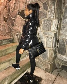 Image by Chloe Cute Swag Outfits, Dope Outfits, Chill Outfits, Trendy Outfits, Winter Fashion Outfits, Fall Winter Outfits, Autumn Winter Fashion, Black Girl Fashion, Look Fashion