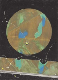 Max Ernst (German, 1891-1976), Configuration, 1974. Oil on panel affixed to the artist's mount, image size: 33.4 x 24.5 cm. Mount size: 41 x 33.4 cm.