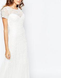 vestido de noiva barato low cost da asos com bordado vintage 1