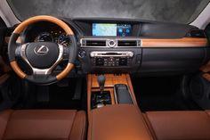 2013 Lexus GS 350 F Sport cockpit brown black silver grey