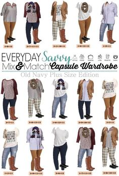 I love this new Old Navy plus size capsule wardrobe for fall. It includes fun plaid pants, a graphic tee, and cozy cardigans. This set has just 15 pieces including 2 pairs of shoes. Plus Old Navy is so reasonable priced that you can buy it all and be set for all your fall casual looks!