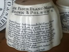 Brown and Polson 19th Century Blancmange mould