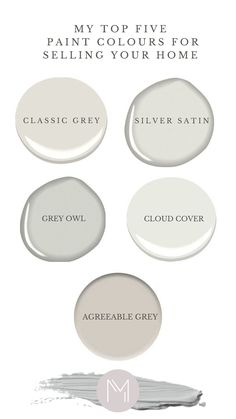 Gray Owl Paint, White Paint Colors, Off White Color, White Paints, Benjamin Moore Silver Satin, Benjamin Moore Paint, Benjamin Moore Colors, Sherman Williams, Sherwin Williams Gray