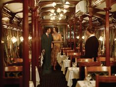 Rovos Rail. One of our dining cars.