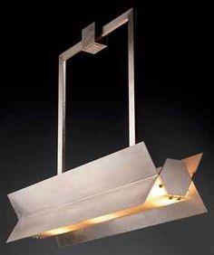 Nickel plated Brass Lamp by Robert Mallet-Stevens, c. Cool Lighting, Lighting Design, Pendant Lighting, Lighting Ideas, Chandelier, Robert Mallet Stevens, Brass Lamp, Lighting Solutions, Light Art