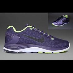 585ecb407669 Nike Lunarglide 5 + Shield 8.5 Purple Volt Nike Lunarglide