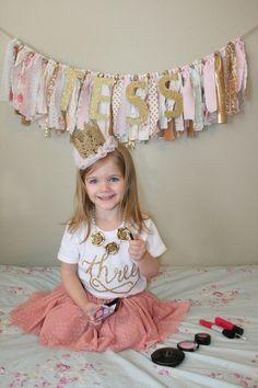 Birthday shirt Number three shirt with gold by LolaandDarla 2db535ff3bf6
