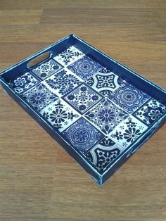 33 Best Country Wooden Home Decoupage Furniture, Decoupage Box, Home Decor Accessories, Decorative Accessories, Mosaic Tray, Handmade Kitchens, Mosaic Projects, Wood Tray, Home Decor Signs