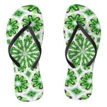 Adult Slim Straps with White Green Design Flip Flops - Durable Thong Style Hawaiian Beach Sandals By Talented Fashion & Graphic Designers - Flip Flop Sandals, Flip Flops, Fashion Graphic, Fashion Design, Beach Sandals, Mens Fashion, Trendy Fashion, Footwear, Hawaii Beach