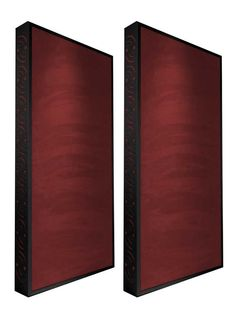 Ready Acoustics Chameleon Bass Traps Burgundy with Black frame Bass Trap, Band Rooms, Drum Room, Chill Room, Recording Studio Design, Home Studio Music, Audio Room, Studio Furniture, Acoustic Panels