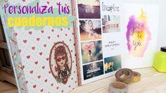 3 IDEAS PARA PERSONALIZAR TUS CUADERNOS I DIY School Supplies! ♥ Qué cos...