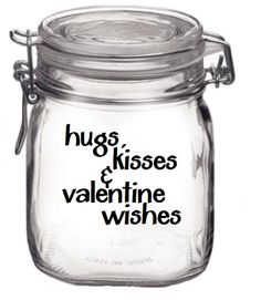 Just fill with Hershey's Hugs & Kisses and give as a gift to someone sweet - via meandmy3boys on Etsy