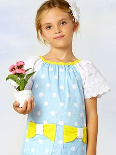 Poppy Bow Dress girls peasant dress sewing pattern in girls sizes 1 to 10