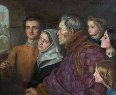 La partenza dei crociati (Famiglia dei crociati), John Everett Millais, 1857/58, olio su tela, 51,5 x 64 cm, Oldham (Inghilterra), Oldham Art Gallery .
