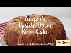 Pineapple Rum Cake is HERE! A buttery sour cream pound cake is enhanced with sweet tropical pineapple flavor and a rum syrup. The gorgeous pineapple upside down topping makes it a showstopper! Pineapple Rum, Pineapple Upside Down Cake, Baking Recipes, Dessert Recipes, Desserts, Flan, Cake Land, Sour Cream Pound Cake, Bunt Cakes
