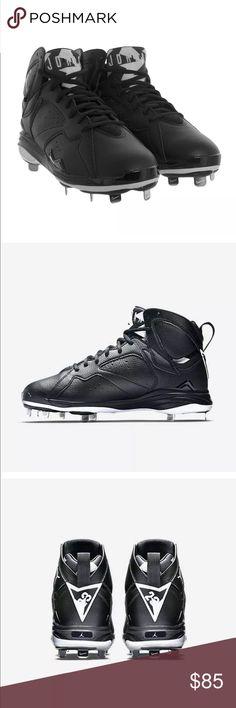 8025b44639ad Jordan Retro 7 Oreo Baseball Football cleats Authentic Jordan Retro 7  Baseball Football Metal