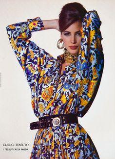 Christy Turlington for Versace